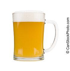 White beer mug