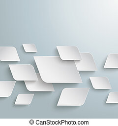 White Bevel Rectangles Chaos Infographic PiAd