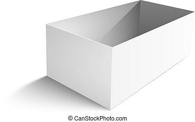 white big box on