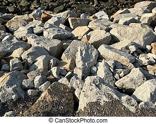 White big reef rock coast texture background