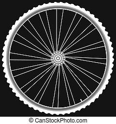white Bike wheels isolated