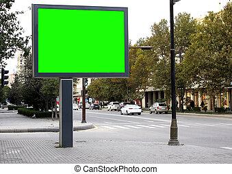 white billboard on the road