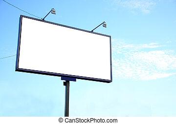 white billboard