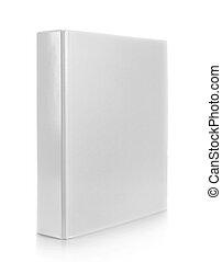 white binder on isolated white background