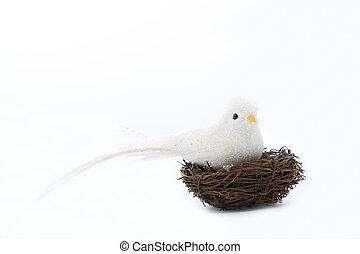 White bird on the nets