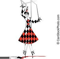 fantasy of hand puppet Pierrette