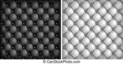 White & black leather upholstery background, vector ...