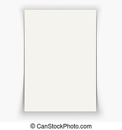 White Black Page with Shadow Effect