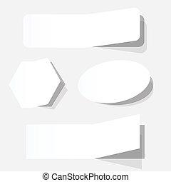 white blank advertising coupons set