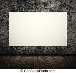White blank board