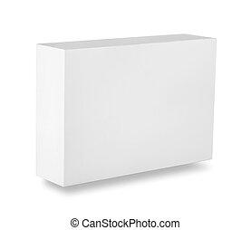 White blank box