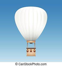 White Blank Captive Balloon - Captive balloon with white...
