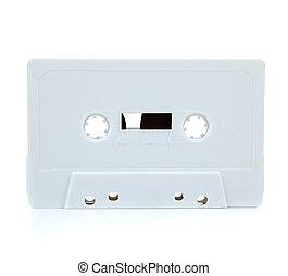 White blank cassette on white