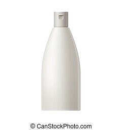 White blank cosmetic bottle