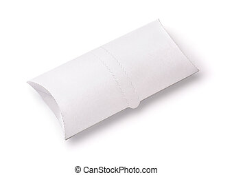 White blank doner kebab paper packaging isolated on white