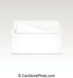 White Blank Envelope Isolated