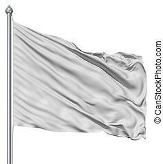 White blank flag - A background of folded and rippled soft...