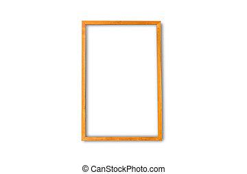 White blank frame on a white background