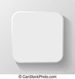 White Blank Icon Template for Web and Mobile Button with ...
