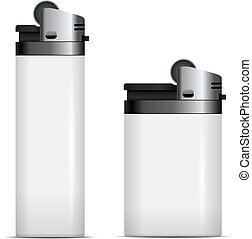 White blank lighters vector template