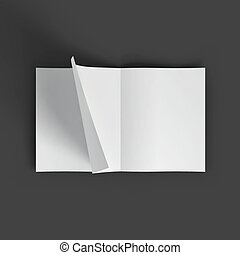 White blank magazine spread. Business mockup template....