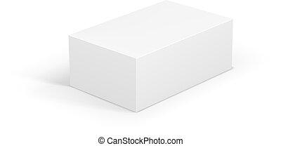 White Blank Package Box. Vector Illustration