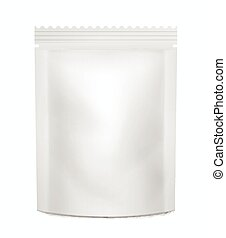 White Blank packaging container food or drinks.