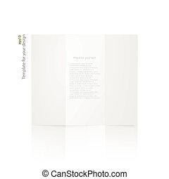 White blank paper brochure.