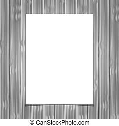 White blank paper sheet on wooden background. Vector ...