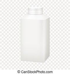 White blank plastic bottle with cap mockup