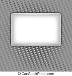 White blank shape on corduroy background