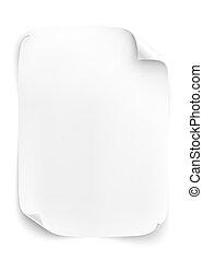 White, blank sheet of paper.