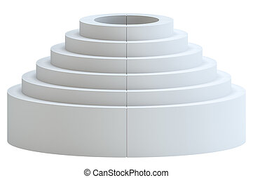 White Blank showcase as podium or ladder - White Blank...