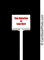 white blank sign isolated