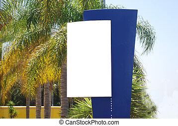 White blank Sign