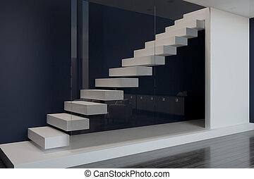 white blank slab in modern apartment