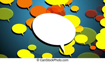 White Blank Speech bubble with luma matte channel and...