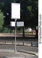 White blank Street Sign