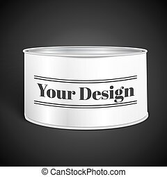 White Blank Tincan Metal Tin Can, Canned Food, excellent vector illustration, EPS 10