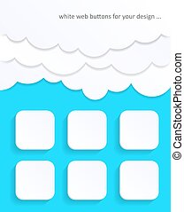 White blank web buttons