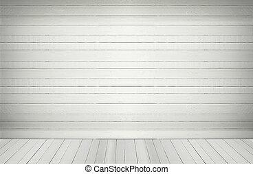 white blank wooden wall  floor in an empty room