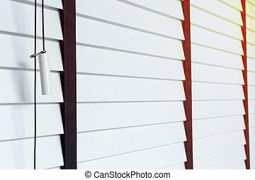 white blinds on window, design interior