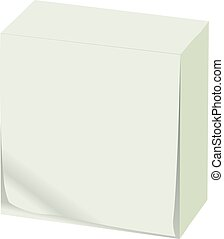 White block of paper for recording