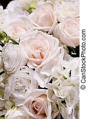 white blossom flowers background