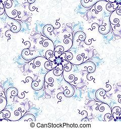 White-blue seamless pattern - Gentle white-blue seamless...
