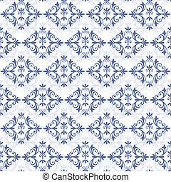 White-blue seamless pattern (vector)