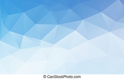 white blue triangular background