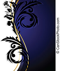 White-blue vertical ornament