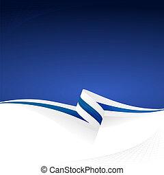 White blue white