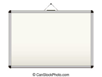 White board for schools - Blank whiteboard with copy space...